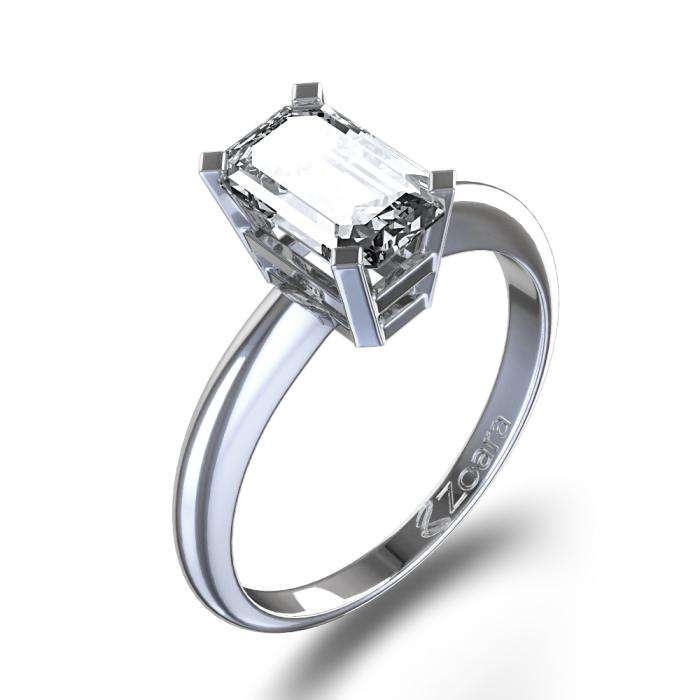 Emerald Cut Diamond Engagement Ring Settings Ringscladdagh