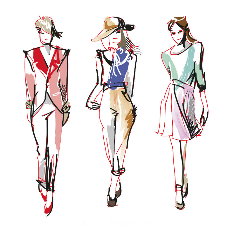 The Simplest Way to Draw Fashion Sketches - wikiHow 50
